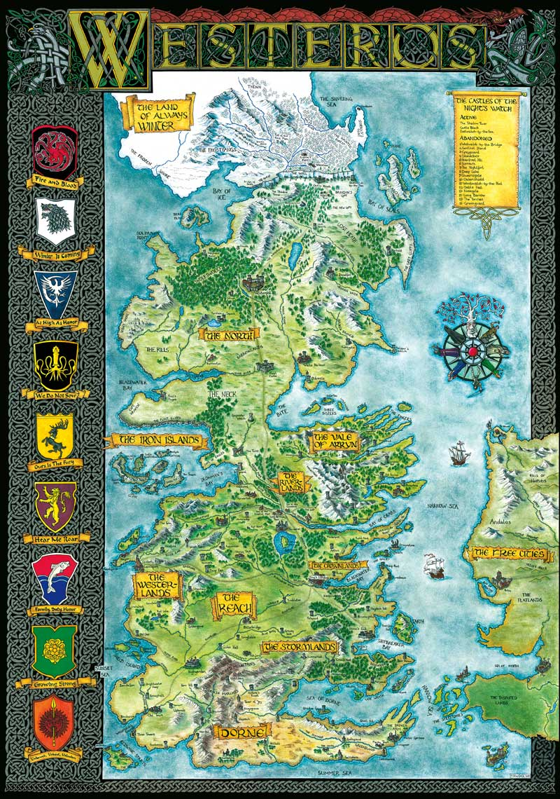 image relating to Printable Map of Westeros referred to as Westeros Klaradox